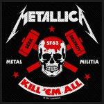 kleiner Aufnäher Metallica Militia
