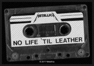 kleiner Aufnäher Metallica No Life 'til Leather
