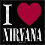 kleiner Aufnäher Nirvana I love Nirvana