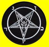 kleiner Aufnäher Symbole Devil Pentagram