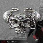 Gürtelschnalle Viking Skull