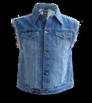 Jeans Weste Stonewashed blue mit ausgefransten Armen von Capricorn Rockwear