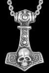 Kette Thors Hammer with Skull