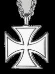 Kette Iron Cross ( silberfarben )