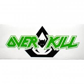 Heckscheibenaufkleber Overkill Logo