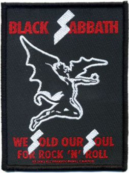 kleiner Aufnäher Black Sabbath We sold our Soul for Rock'n Roll