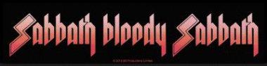 kleiner Aufnäher Black Sabbath Sabath bloody Sabbath Stripe