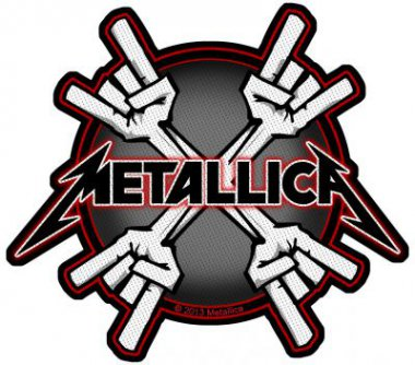 kleiner Aufnäher Metallica Metal Horns