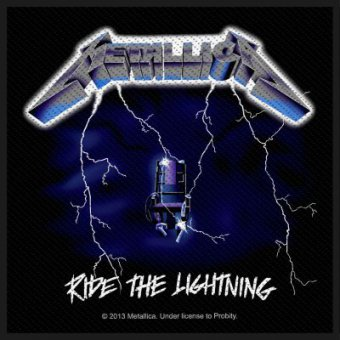 kleiner Aufnäher Metallica Ride the Lightning