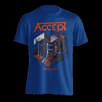 T-Shirt Accept Metal Heart ( blue )
