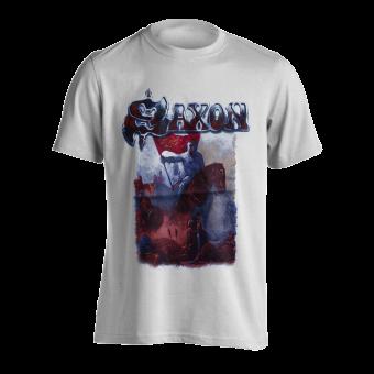 T-Shirt Saxon Crusader ( weiß )