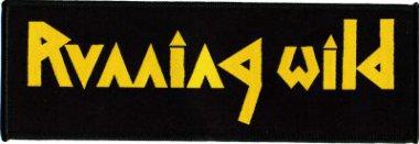 kleiner Aufnäher Running Wild Logo Stripe