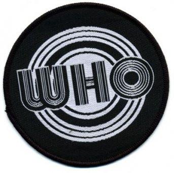 kleiner Aufnäher The Who black / white Logo