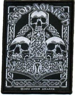 kleiner Aufnäher Amon Amarth 3 Skulls