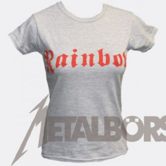 Girlie Shirt Rainbow Red Logo