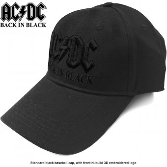 Baseball Cap AC/DC Black Logo
