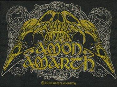 kleiner Aufnäher AMON AMARTH Raven Skull