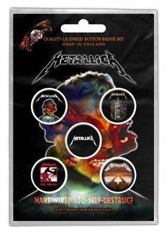 Button Set Metallica Classic Logos