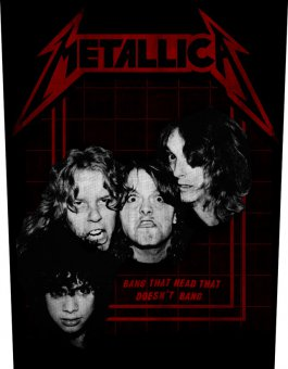 Rückenaufnäher Metallica Bang that Head