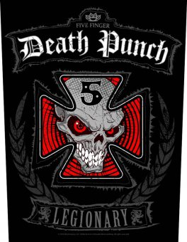 Rückenaufnäher Five Finger Death Punch Iron Cross Legionary