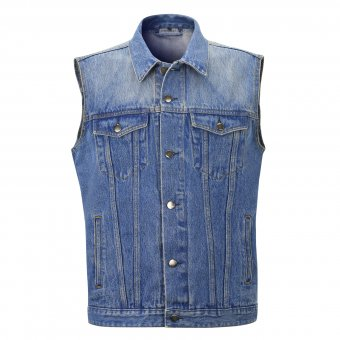 Jeans Weste Capricorn Rockwear blau Damage Case