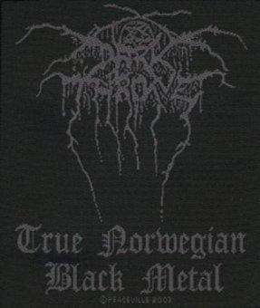 kleiner Aufnäher Dark Throne Black Logo