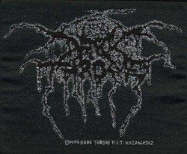 kleiner Aufnäher Dark Throne Silver Logo