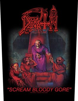 Rückenaufnäher Death Scream bloody Gore