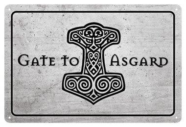 Blechschild Welcome to Asgard