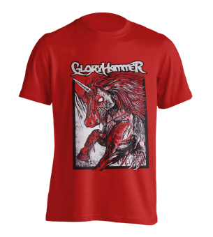 T-Shirt Gloryhammer Red Unicorn