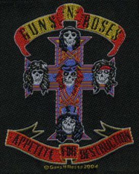 kleiner Aufnäher Guns 'n' Roses Appetite for Destruction