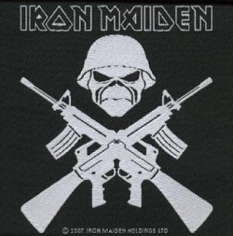 kleiner Aufnäher Iron Maiden Crossed Guns