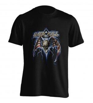 T-Shirt Overkill Skull Flag M