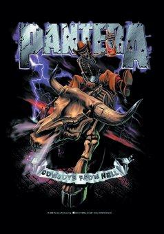 Flagge Pantera Riding Skull