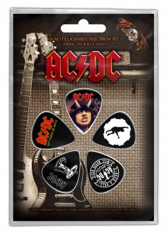 Plektrum Set AC/DC Classic Logos