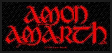 kleiner Aufnäher Amon Amarth Red Logo
