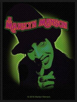 kleiner Aufnäher Marilyn Manson Smells like teen Spirit