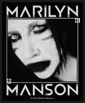 kleiner Aufnäher Marilyn Manson Villain