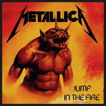 kleiner Aufnäher Metallica Jump in the Fire