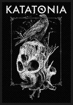 kleiner Aufnäher Katatonia Crow Skull