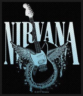 kleiner Aufnäher Nirvana Winged Guitar