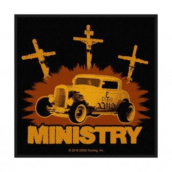 kleiner Aufnäher Ministry Jesus built my Hotrod