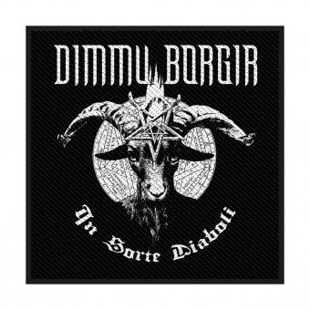 kleiner Aufnäher Dimmu Borgir In Sorte Diaboli