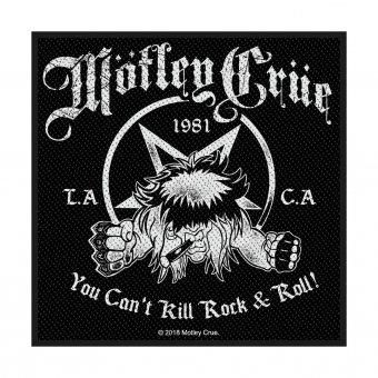 kleiner Aufnäher Mötley Crüe You can't kill Rock'n Roll