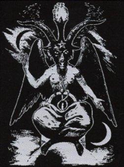 kleiner Aufnäher Symbole Baphomet