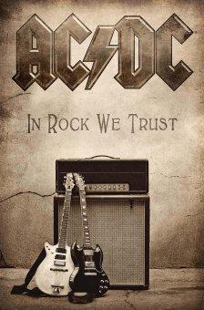 Flagge AC/DC In Rock we Trust