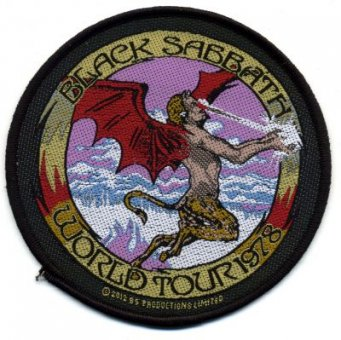 kleiner Aufnäher Black Sabbath World Tour 1978
