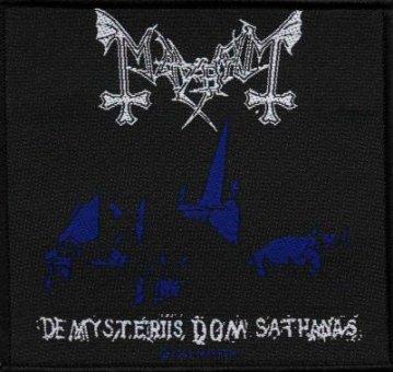 kleiner Aufnäher Mayhem De Mysteriis Dom Sathanas