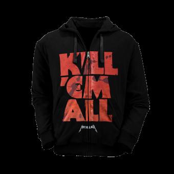 Kapuzenjacke Metallica Kill'em all Letters