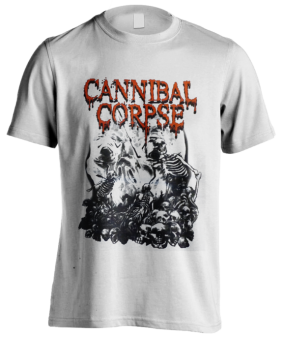 T-Shirt Cannibal Corpse Pile of Skulls ( white )